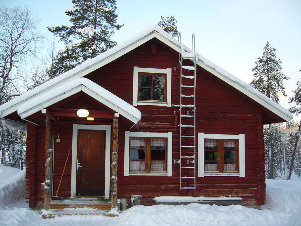 La Laponie (janvier 2008)  Une maison finlandaise